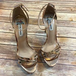 1ddfadacbf42 Steve Madden Shoes - Steve Madden Cassandra Rose Gold Platform Heel